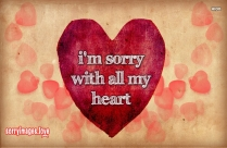 Cute Sorry Saying Images