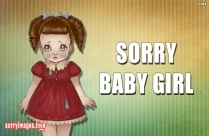 Sorry Baby Girl Message Pic