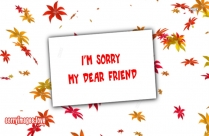 Sorry Dear Friend Image