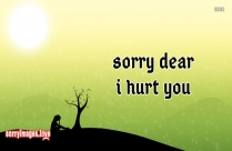 sorry message for hurting your love