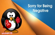Sorry For Being Negative