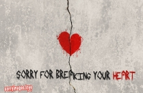 Sorry For Breaking Your Heart