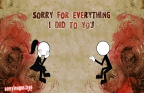 Sorry With Broken Heart Image