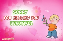 Sorry For Hurting You Sweet Message