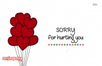 Sorry For Hurting You Pics