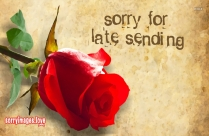 Sorry For Late Sending Message