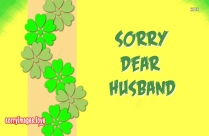 Sorry Greetings For Husband