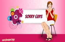 Sorry Girls Image Free Download