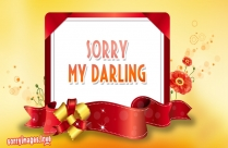 Sorry Image For Girl - Sorry My Darling
