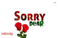 Sorry Image Message