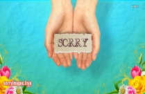 Sorry Image On Hand