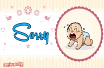 Sorry Image With Baby