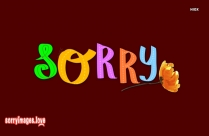 Sorry Wallpaper Free Download