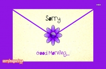Sorry Images With Good Morning