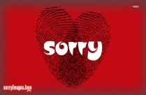 Sorry Love Photo