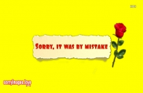 Sorry By My Mistake Image