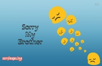 Sorry My Brother Smiley Images