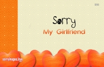Sorry Image For My Girlfriend