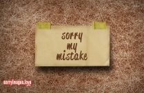 Sorry My Mistake Image
