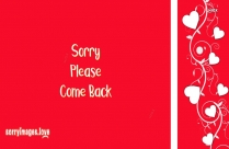 Sorry Please Come Back Quotes