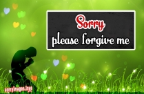 Sorry Please Forgive Me Wallpaper