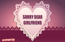 Sorry SMS For Girlfriend