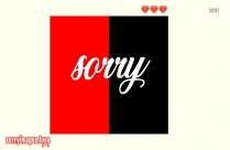Sorry For Whatsapp