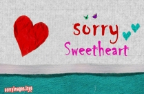 Sorry Sweetheart DP Picture