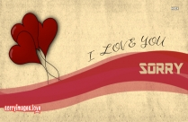Sorry And Love U Message