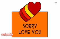 Sorry With Love You Images