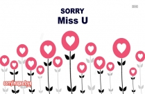 Sorry With Miss U Sms