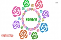 Sorry With Roses Image