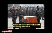 Sorry That India Lost 17 Brave Soldiers To Terror Attack